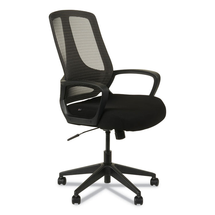 Alera MB Series Mesh Mid-Back Office Chair, Supports up to 275 lbs., Black Seat/Black Back, Black Base