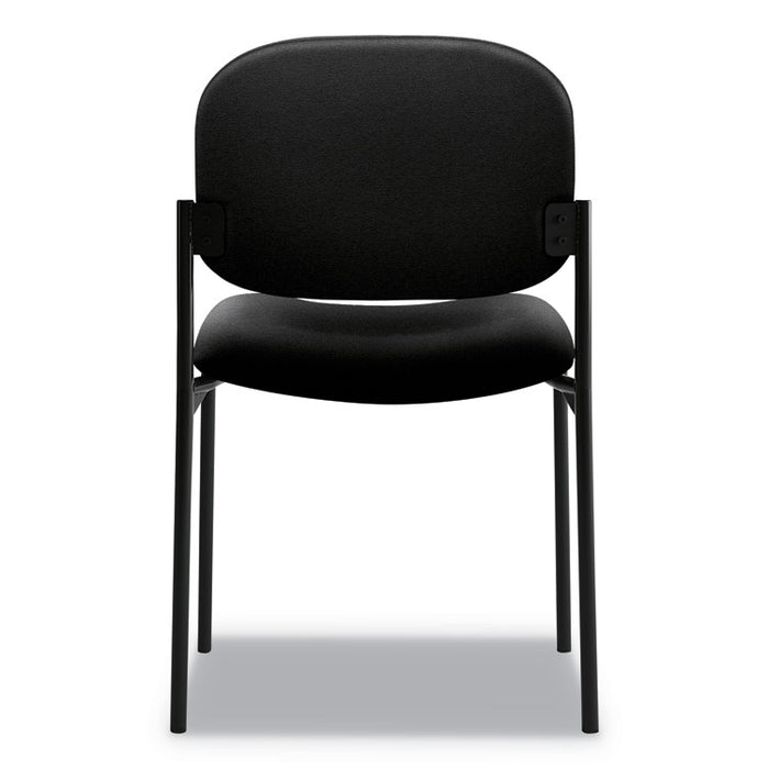 VL606 Stacking Guest Chair without Arms, Black Seat/Black Back, Black Base
