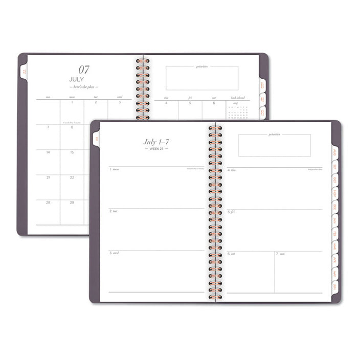 Workstyle Academic Planner, 8 1/2 x 5 1/2, Gray, 2019-2020