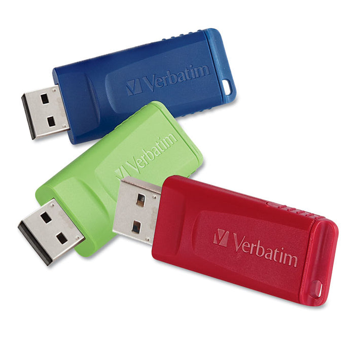 Store 'n' Go USB Flash Drive, 32 GB, Assorted Colors, 3/Pack