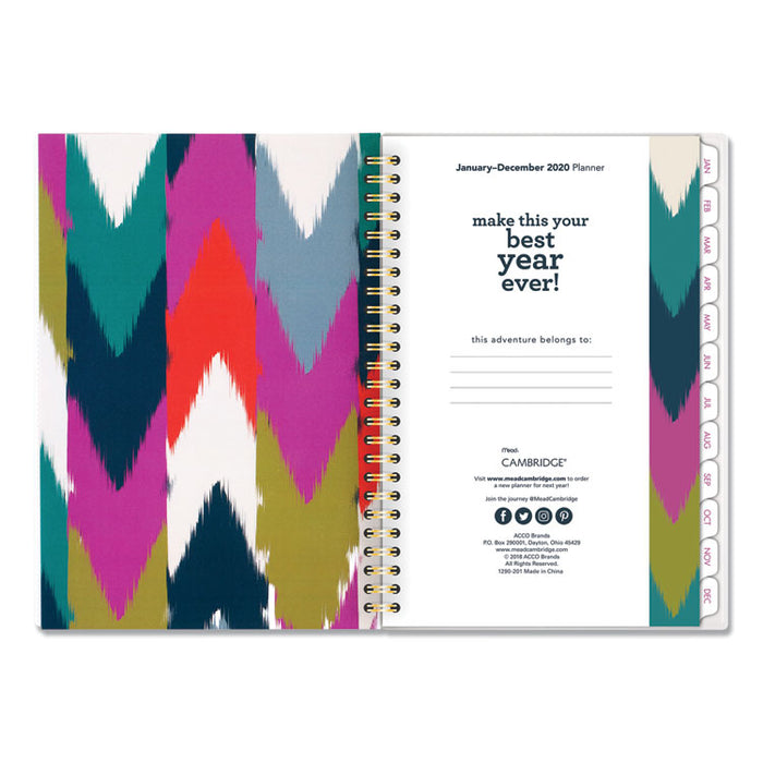 Ikat Weekly/Monthly Planner, 8 1/2 x 5 1/2, 2020
