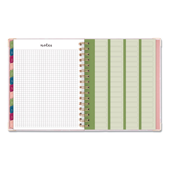 Harmony Weekly/Monthly Hardcover Planner, 9 x 7, Pink Marble, 2020-2021