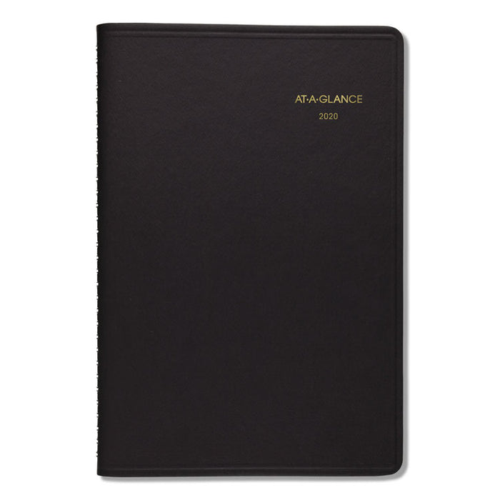 Daily Appointment Book with 15-Minute Appointments, 8 x 4 7/8, Black, 2020