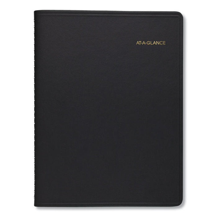 Two-Person Group Daily Appointment Book, 10 7/8 x 8, Black, 2020