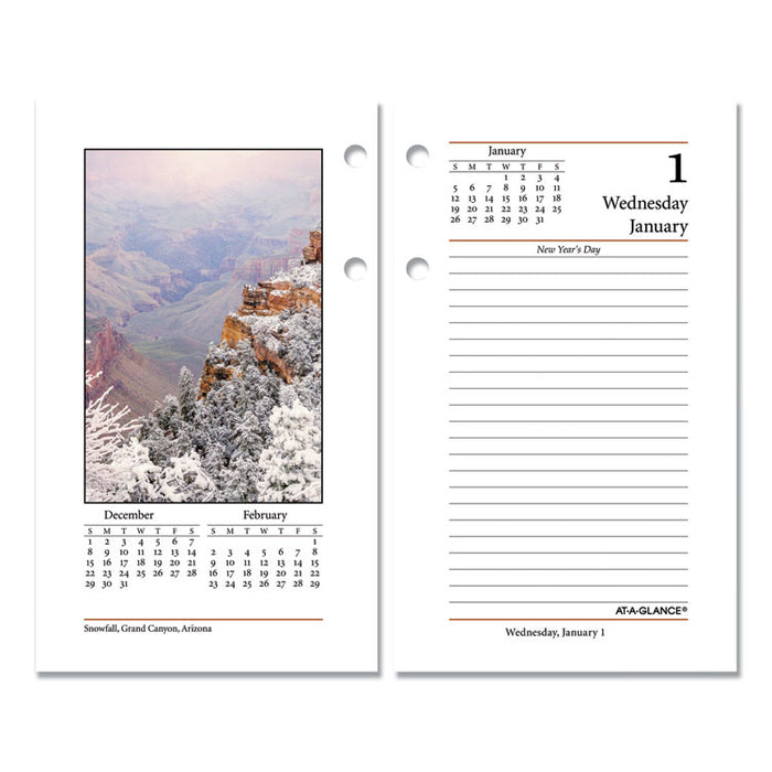 Photographic Desk Calendar Refill, 3 1/2 x 6, 2020