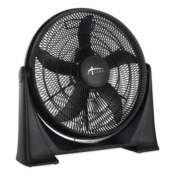 "20"" Super-Circulator 3-Speed Tilt Fan, Plastic, Black"