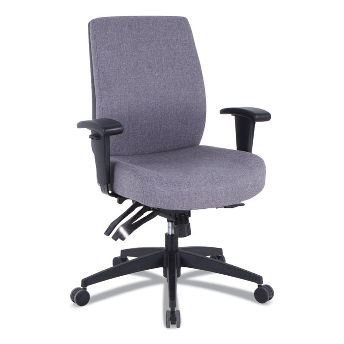 Alera Wrigley Series 24/7 High Performance High-Back Multifunction Task Chair, Up to 275 lbs., Gray Seat/Back, Black Base