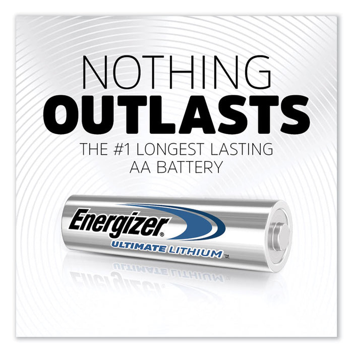 Ultimate Lithium AA Batteries, 1.5V, 4/Pack