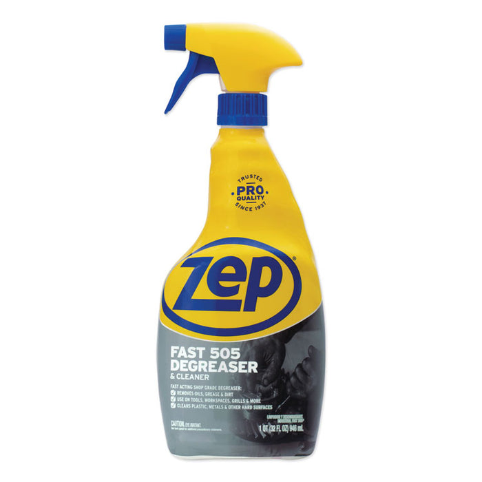 Fast 505 Cleaner & Degreaser, Lemon Scent, 32 oz Spray Bottle