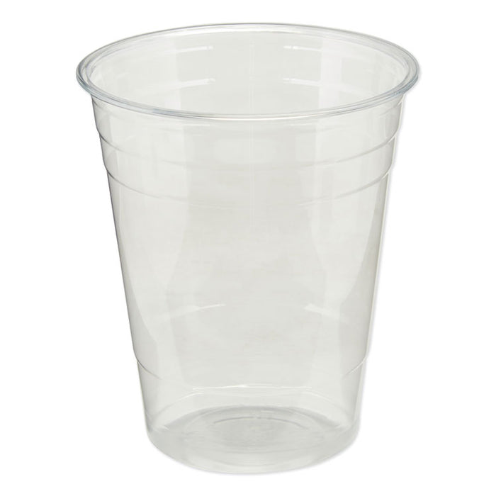 Clear Plastic PETE Cups, Cold, 16oz, 50/Sleeve, 20 Sleeves/Carton