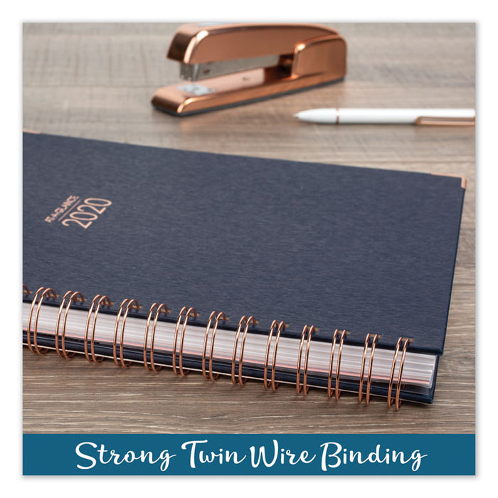Harmony Weekly Monthly Hardcover Planners, 11 x 8.5, Navy, 2020