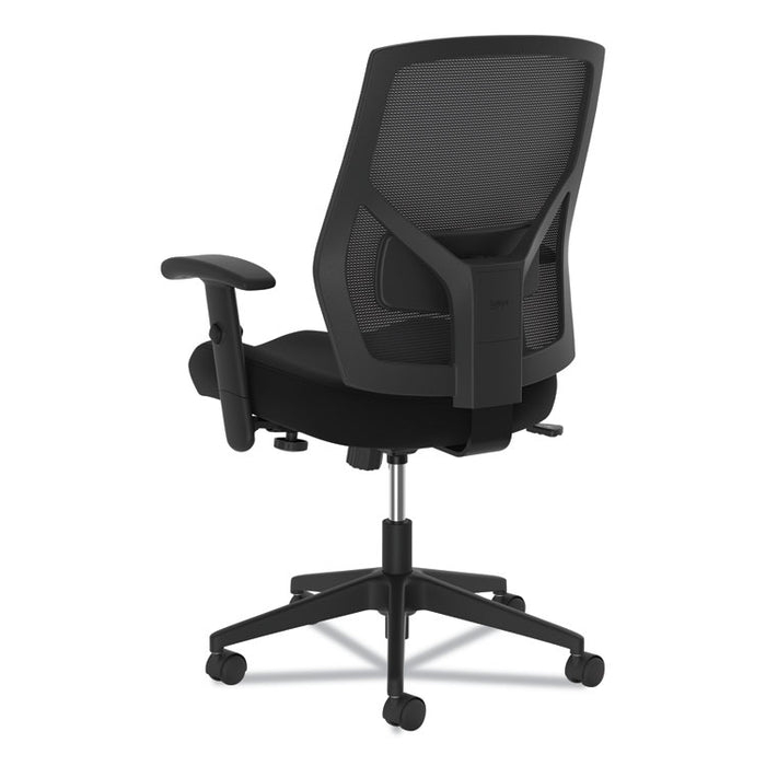 VL581 High-Back Task Chair, Supports up to 250 lbs., Black Seat/Black Back, Black Base