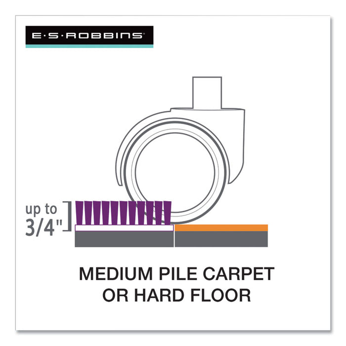 "Floor+Mate, For Hard Floor to Medium Pile Carpet up to 0.75"", 46 x 48, Clear"
