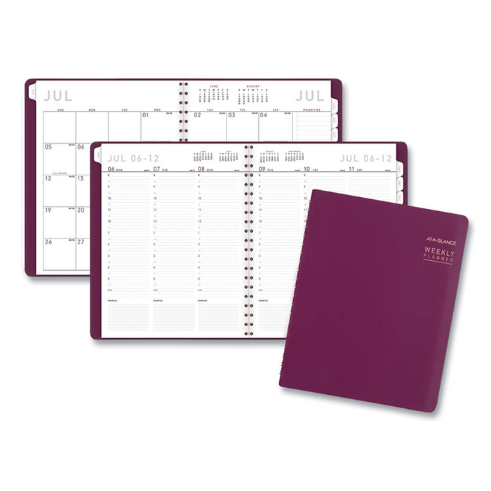 Contemporary Academic Planner, 11 x 8.25, Purple, 2020-2021