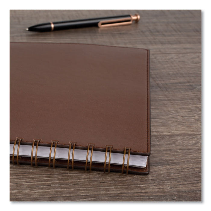 Signature Collection Academic Planner, 8.5 x 5.5, Distressed Brown,2020-2021