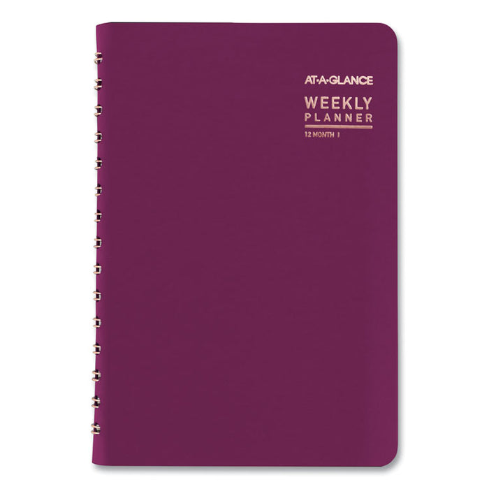Contemporary Academic Planner, 8 x 4.88, Purple, 2020-2021