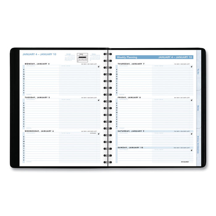 The Action Planner Weekly Appointment Book, 8 3/4 x 6 7/8, Black, 2020
