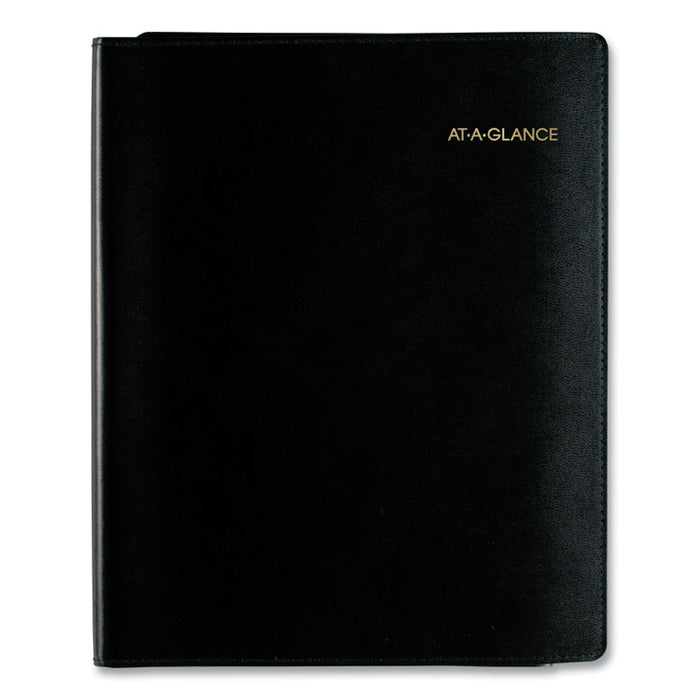 Plus Weekly Appointment Book, 10 7/8 x 8 1/4, Black, 2020-2021