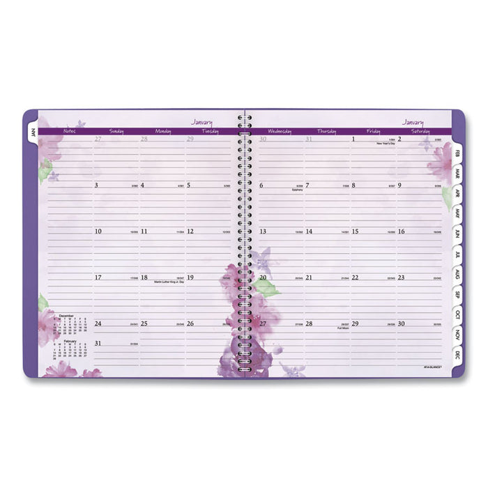 Beautiful Day Monthly Planner, 11 x 8 1/2, Purple, 2020