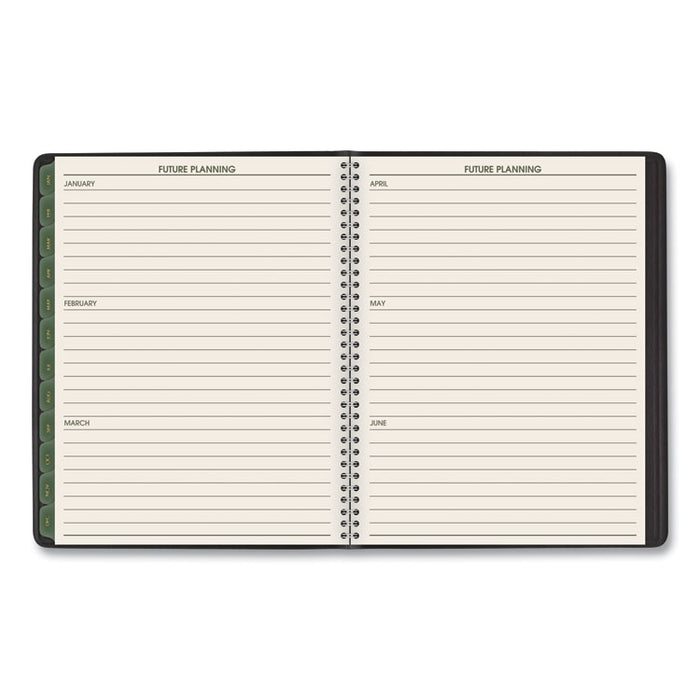 Recycled Weekly/Monthly Classic Appointment Book, 8.75 x 7, Black, 2020
