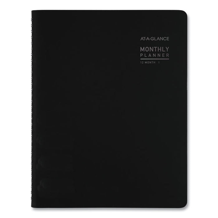 Contemporary Monthly Planner, 8 3/4 x 6 7/8, Black Cover, 2020
