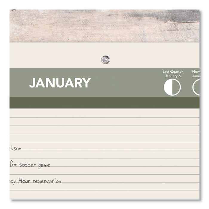 Recycled Desk/Wall Calendar, 11 x 8 1/2, 2020