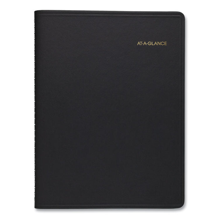 Weekly Planner Ruled for Open Scheduling, 8 3/4 x 6 3/4, Black, 2020
