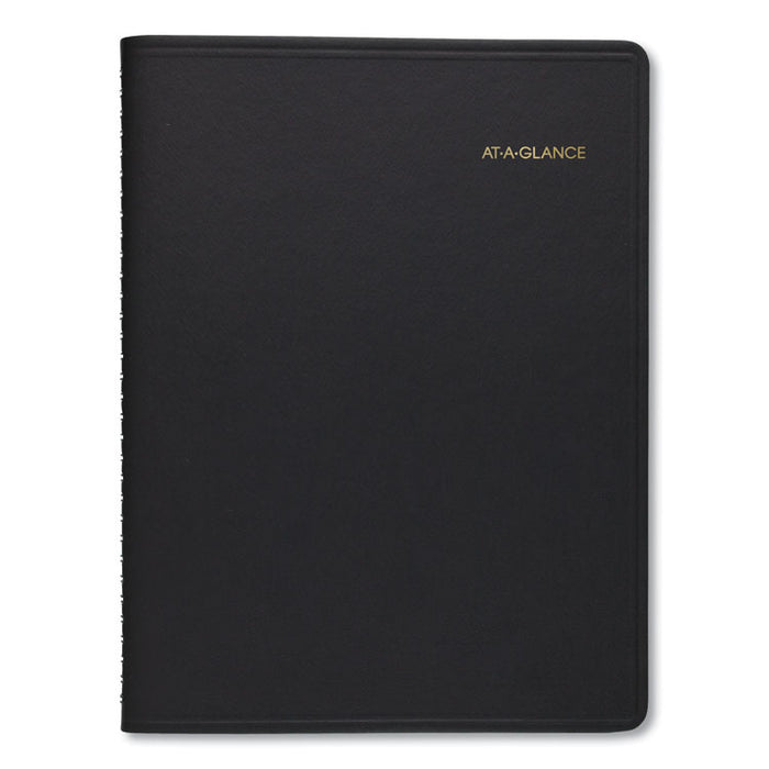 Weekly Appointment Book Ruled, Hourly Appts, 8 3/4 x 6 7/8, Black, 2020-2021