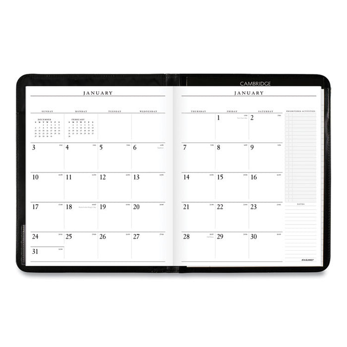 Executive Monthly Padfolio, 11 x 9, White, 2020