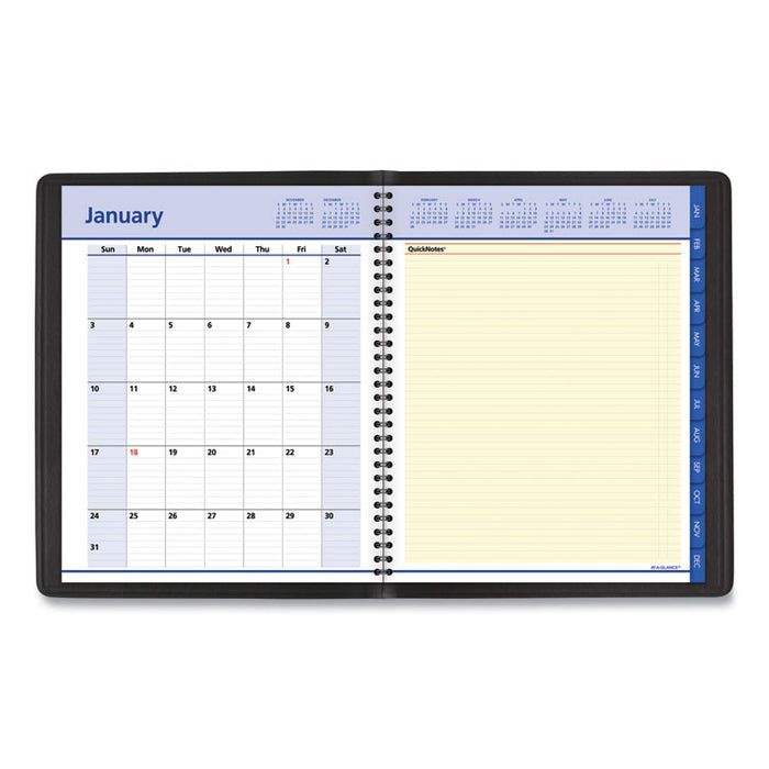 QuickNotes Weekly/Monthly Appointment Book, 9 7/8 x 7 5/8, Black, 2020