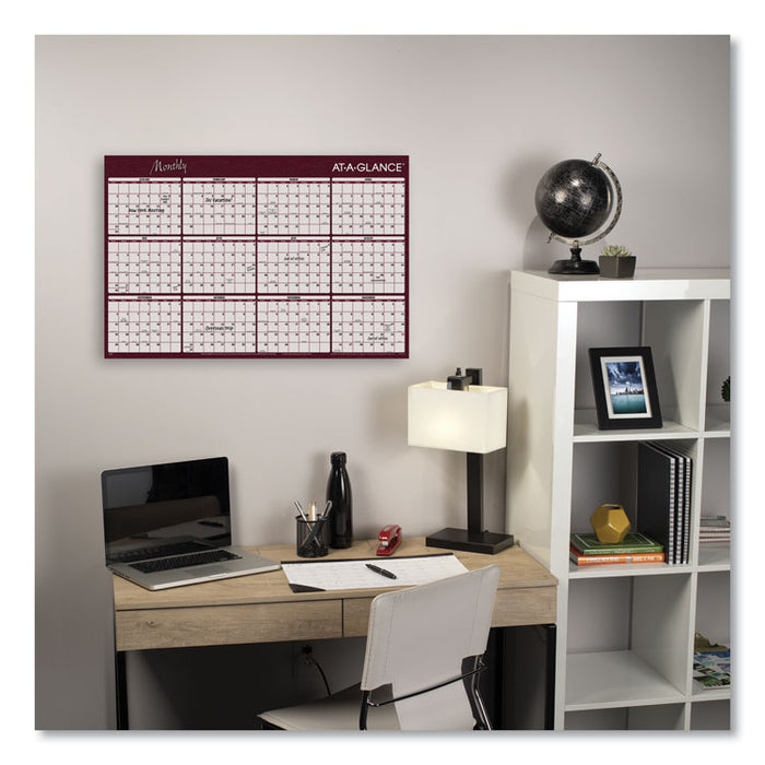 Reversible Horizontal Erasable Wall Planner, 48 x 32, 2020
