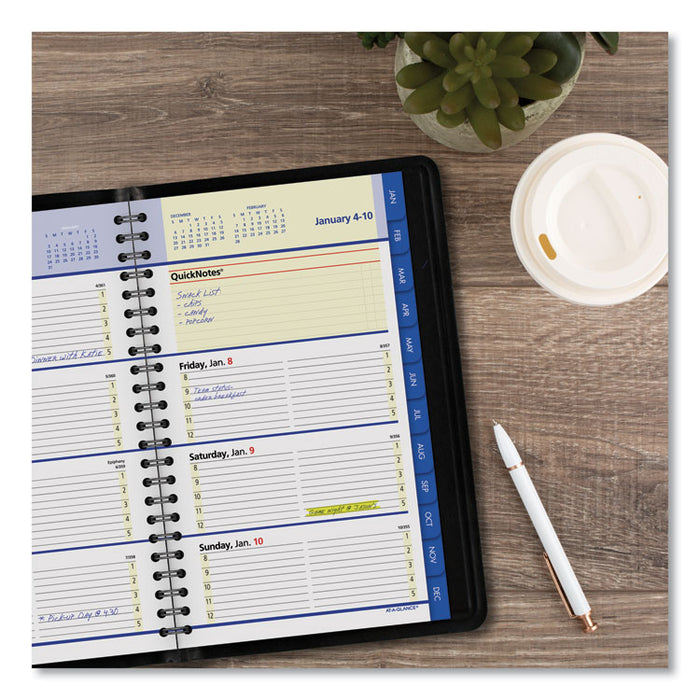 QuickNotes Weekly/Monthly Appointment Book, 8 x 4 7/8, Black, 2020