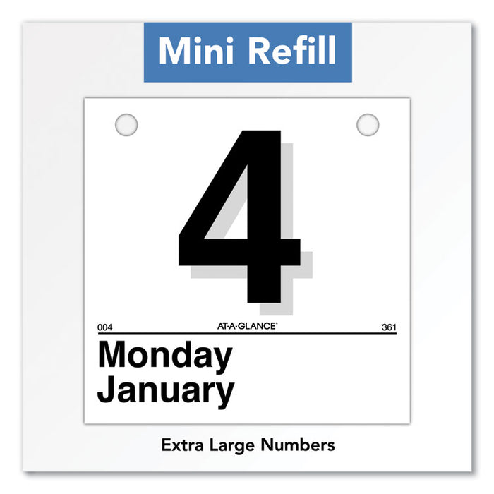 Today Is Daily Wall Calendar Refill, 6 x 6, White, 2020
