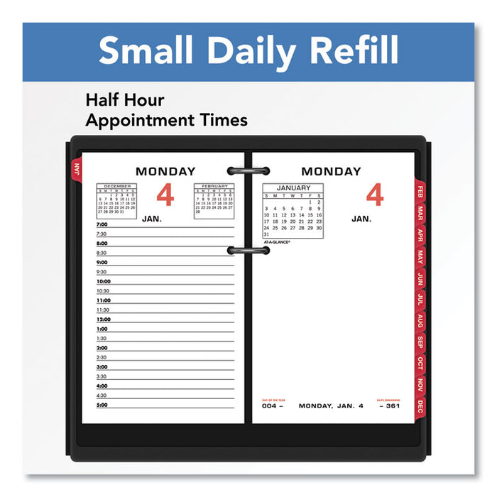 Two-Color Desk Calendar Refill, 3 1/2 x 6, 2020