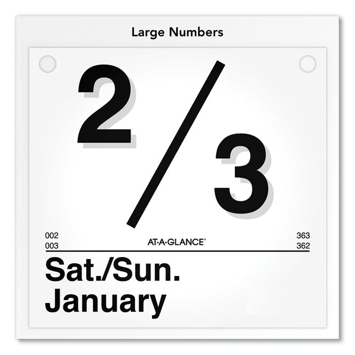 Today Is Daily Wall Calendar Refill, 8 1/2 x 8, White, 2020