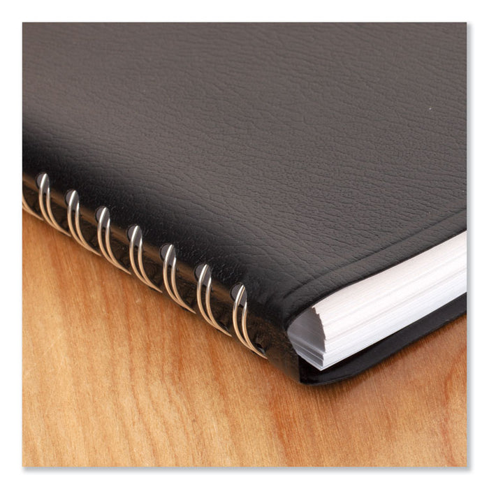 Daily Appointment Book with15-Minute Appointments, 8 x 4 7/8, Black, 2020