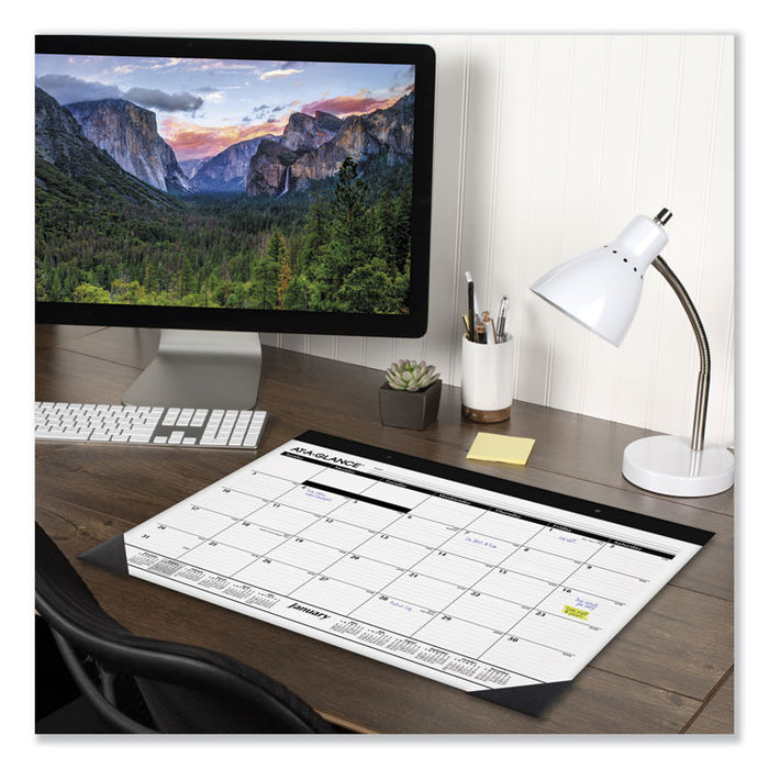 Monthly Refillable Desk Pad, 22 x 17, White, 2020