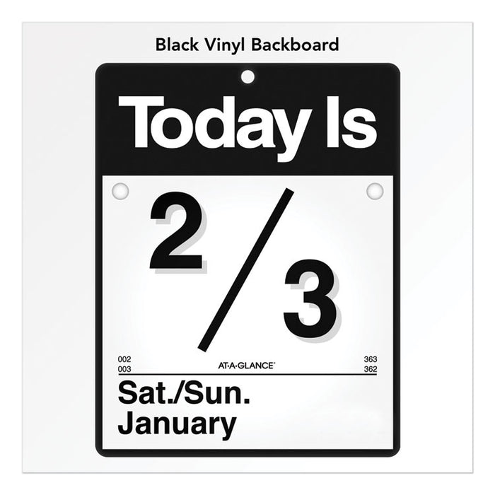 Today Is Wall Calendar, 9 3/8 x 12, White, 2020