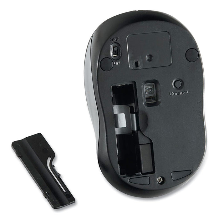 Silent Wireless Blue LED Mouse, 2.4 GHz Frequency/32.8 ft Wireless Range, Left/Right Hand Use, Graphite