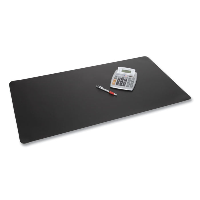 Rhinolin II Desk Pad with Antimicrobial Product Protection, 36 x 24, Black