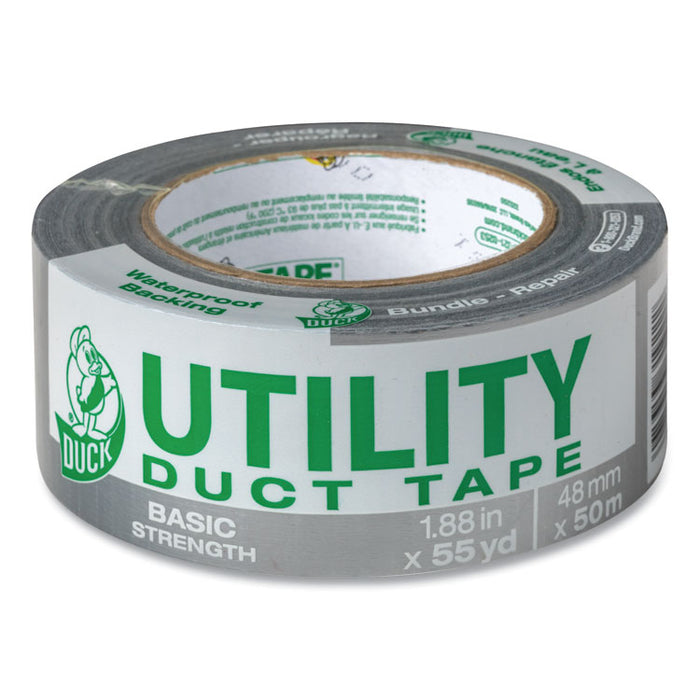 "Utility Duct Tape, 3"" Core, 1.88"" x 55 yds, Silver"