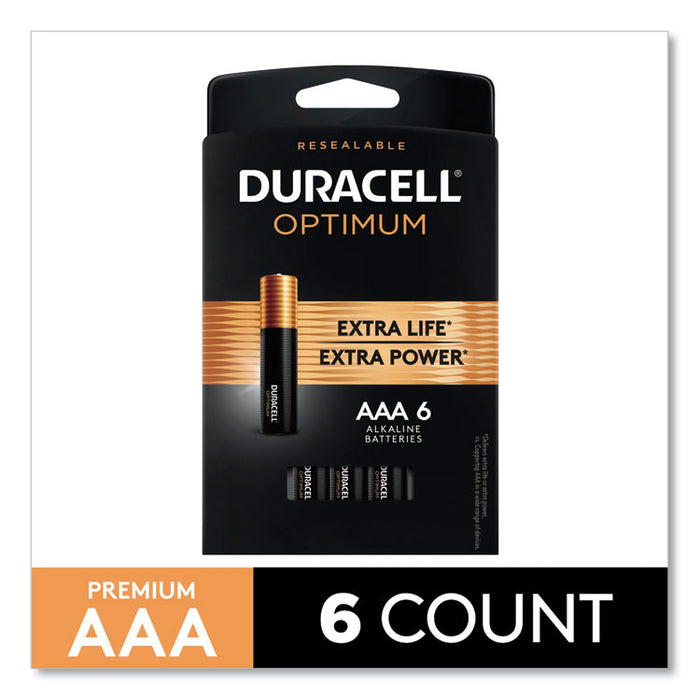 Optimum Alkaline AAA Batteries, 6/Pack
