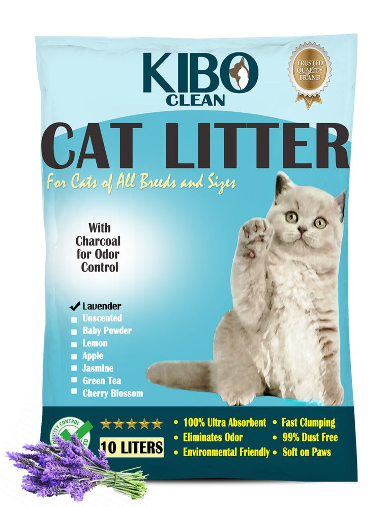 MY HEALTHY PET | KIBO PREMIUM CAT LITTER 10L LAVENDER