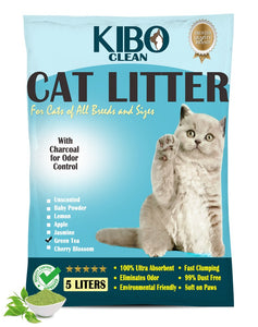 MY HEALTHY PET | KIBO CAT LITTER 5L GREEN TEA