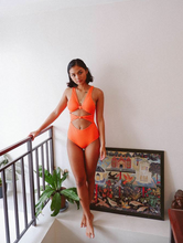 Load image into Gallery viewer, SUNS OF BEACHES | AIMEE DOUBLE FRONT KNOT ONE PIECE