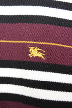Load image into Gallery viewer, UNDER THE SUN | BURBERRY MAROON STRIPE LONGSLEEVES POLO