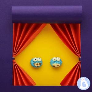 BABY BLUE BUNNY | COOKIE MONSTER CLAY EARRINGS