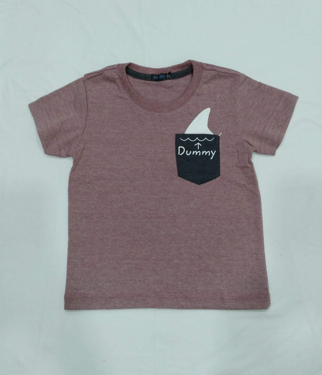IKON | DUMMY (PRINTED POCKET) SIP ROSE WOOD TODDLER SHIRT
