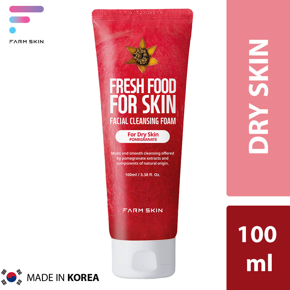FARMSKIN | FRESH FOOD FACIAL CLEANSING FOAM FOR OILY SKIN - POMEGRANATE (100ml)