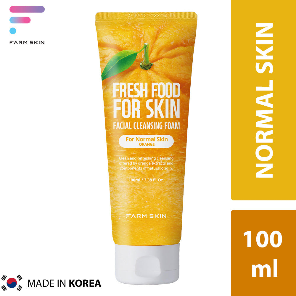 FARMSKIN | FRESH FOOD FACIAL CLEANSING FOAM OR SENSITIVE SKIN - ORANGE (100ml)